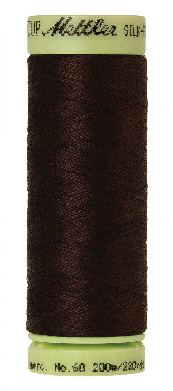 Mettler 60 wt 1002 Silk Finish 220 yds Very Dark Brown