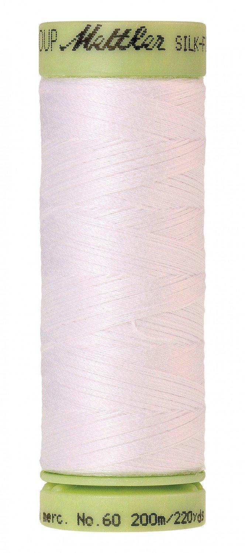 Mettler 60 wt 2000 Silk Finish 220 yds White