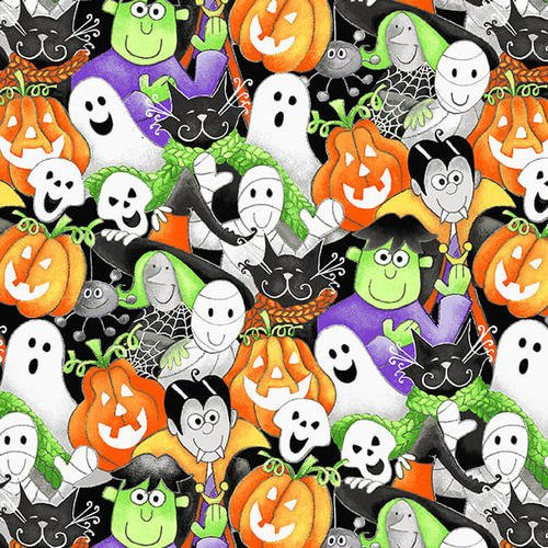 Here We Glow 9535G-93 Multi Halloween Faces by Delphine Cubitt