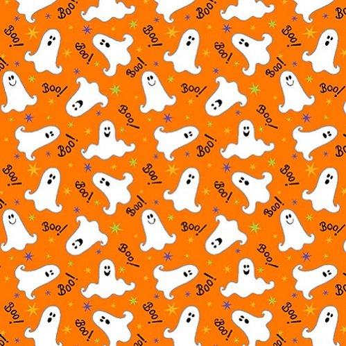Here We Glow 9541G-30 Orange Tossed Ghost by Delphine Cubitt