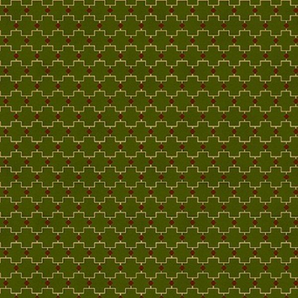 Farmhouse Christmas 9675-66 Green Geometric by Kim Diehl for Henry Glass