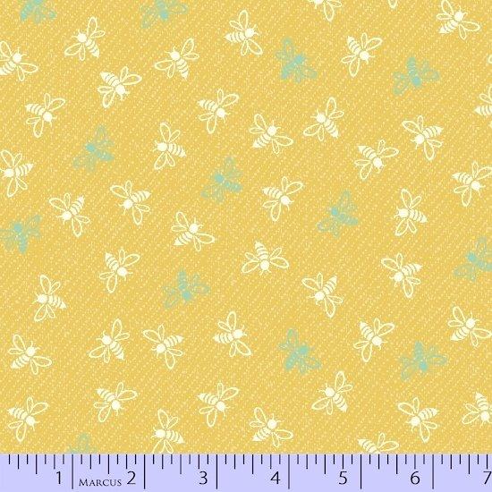 Ki-Coo Gardens Bee 9881-0132 by Laura Berringer for Marcus Fabrics