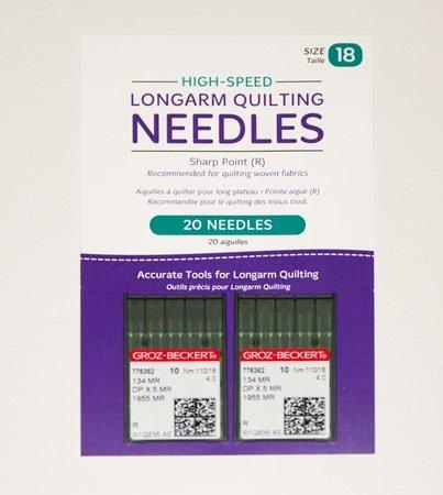 HQ Longarm Needles Size 18 High Speed Sharps Groz-Beckert 20 ct