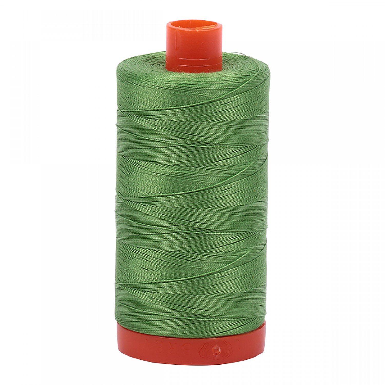 Aurifil Mako Cotton Thread 50 wt 1422 yds 1114 Grass Green