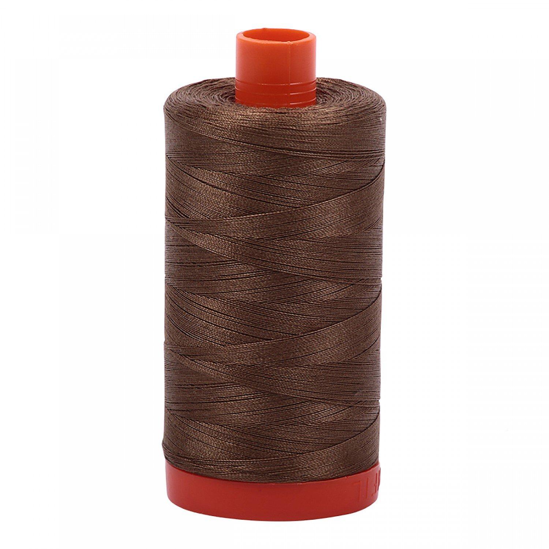 Aurifil Mako Cotton Thread 50 wt 1422 yds 1318 Dark Sandstone