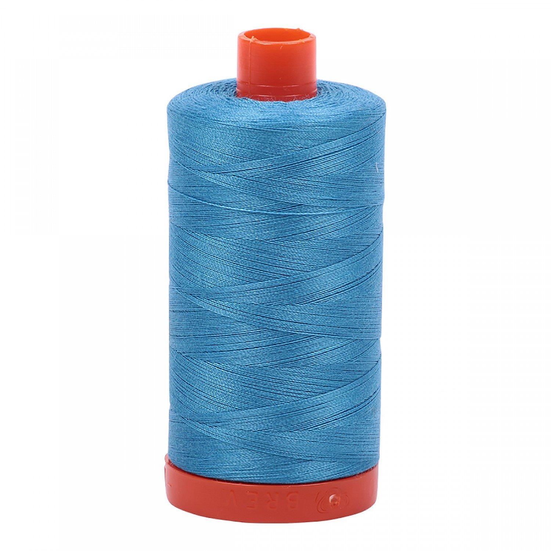 Aurifil Mako Cotton Thread 50 wt 1422 yds 1320 Bright Teal