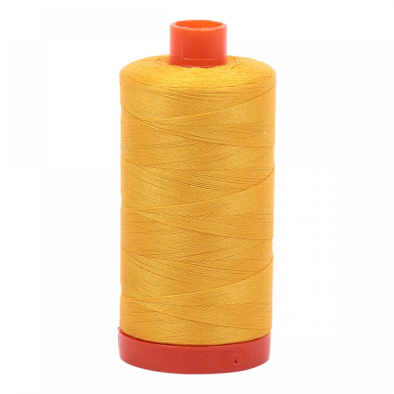 Aurifil Mako Cotton Thread 50 wt 1422 yds 2135 Yellow