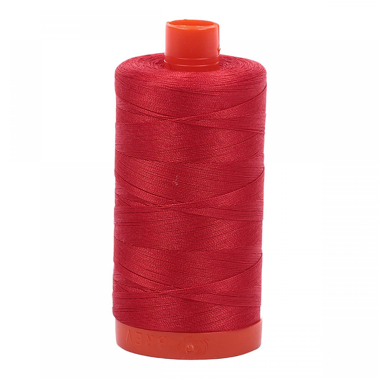 Aurifil Mako Cotton Thread 50 wt 1422 yds 2265 Lobster Red