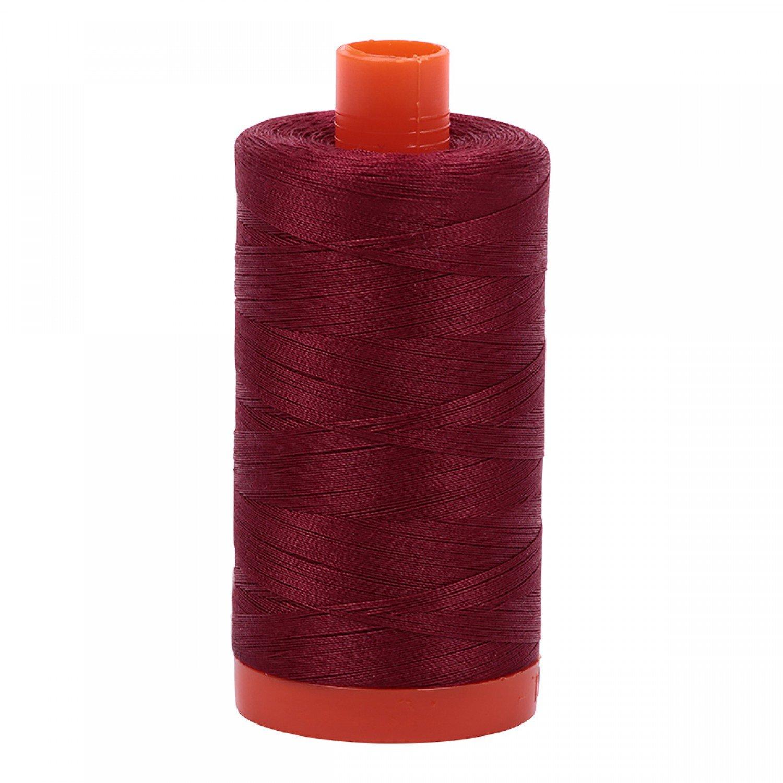 Aurifil Mako Cotton Thread 50 wt 1422 yds 2460 Dark Carmine Red