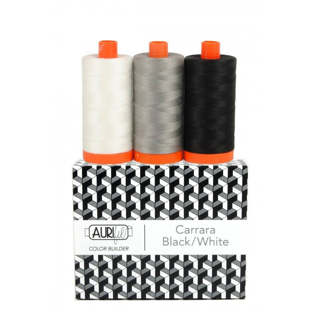 Aurifil Color Builder Carrara Black White 3pc. Box Set