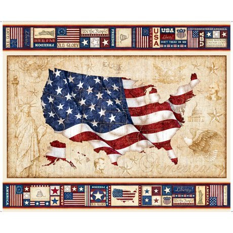 American Pride 26973-X US Flag Panel by Dan Morris for QT Fabrics