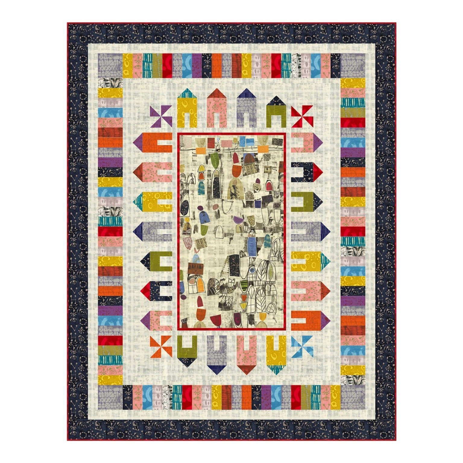 Around the Block Quilt Kit designed by Wendy Sheppard