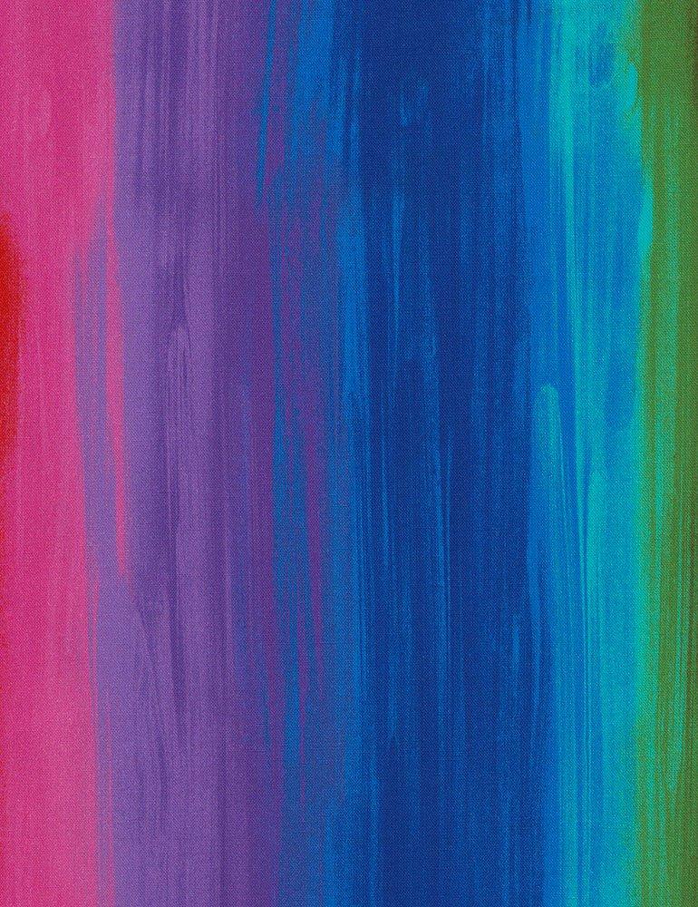 Awaken CD6552 Rainbow Stripe by Chong-a Hwang for Timeless Treasures
