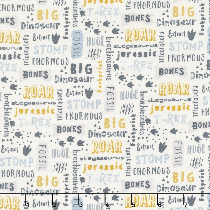 Fossil Rim Words Blue C6611 Blue by Deena Rutter for Riley Blake Designs - copy