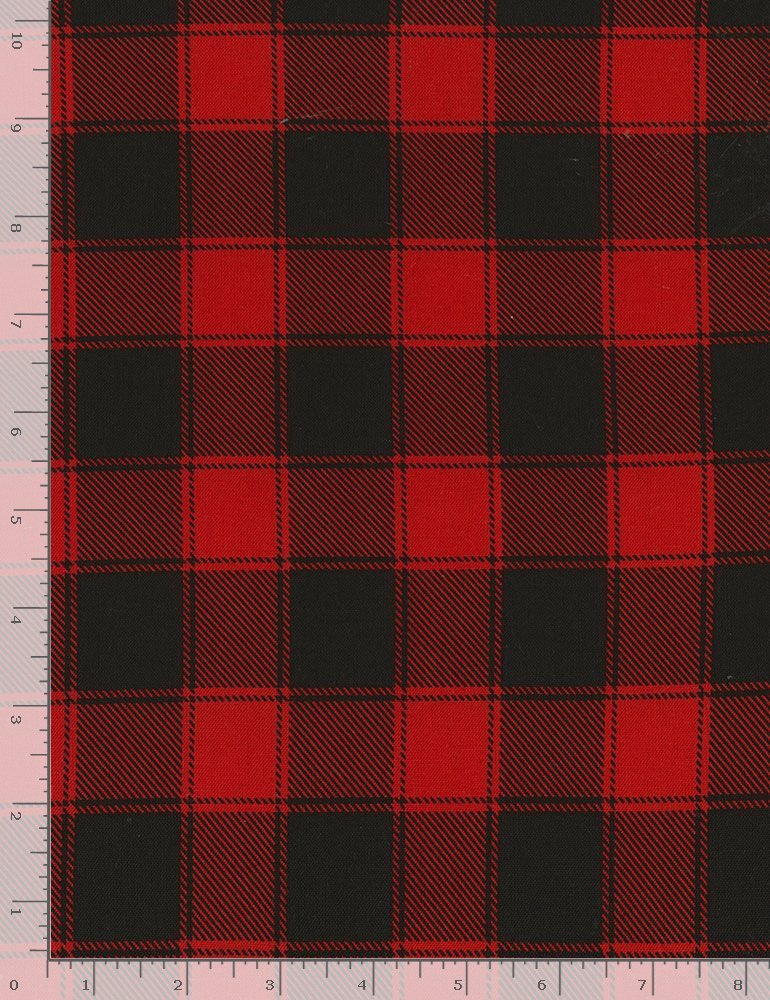 Buffalo Check C5784 Red from Timeless Treasures