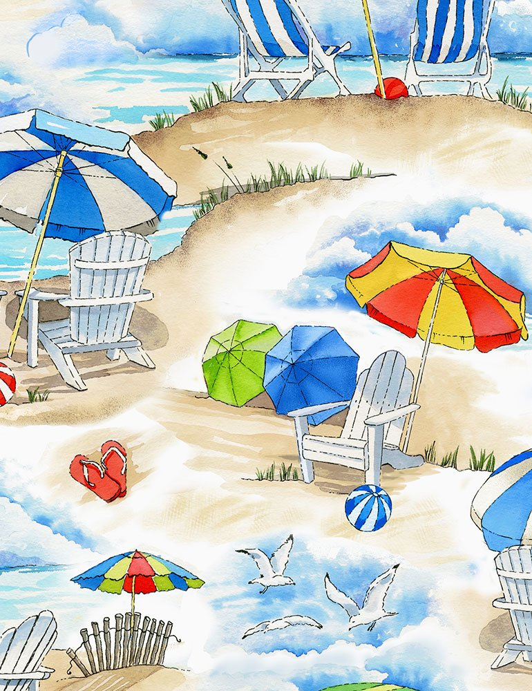 Beach Vacation C6533 Sand from Timeless Treasures