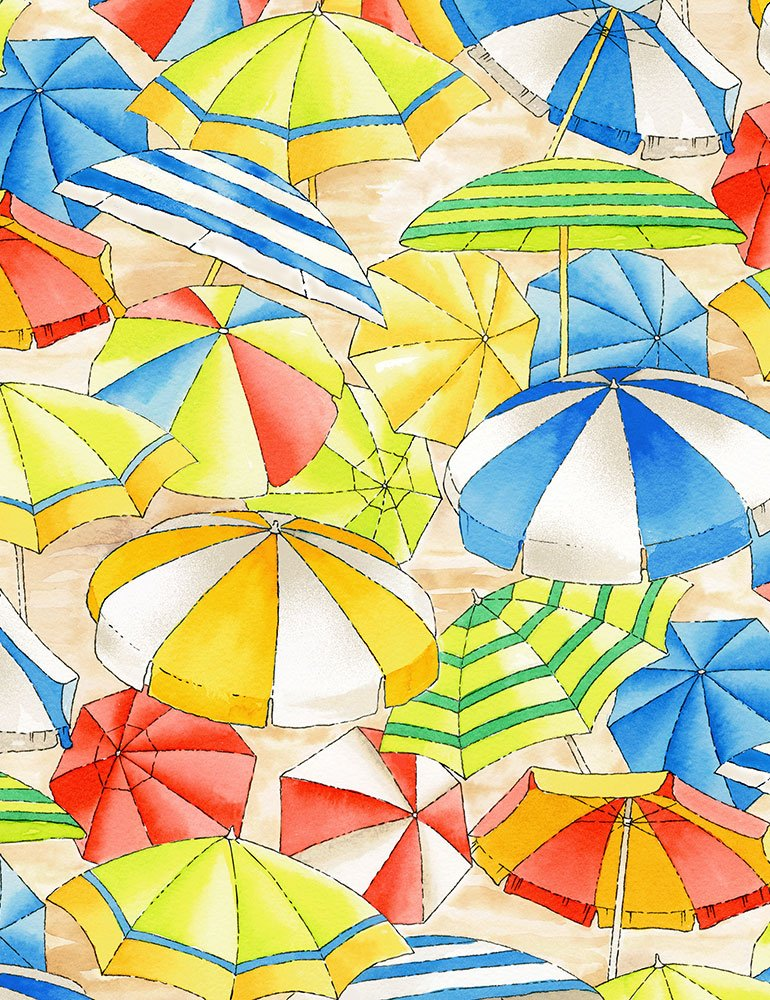 Beach Umbrellas C6537 Multi from Timeless Treasures