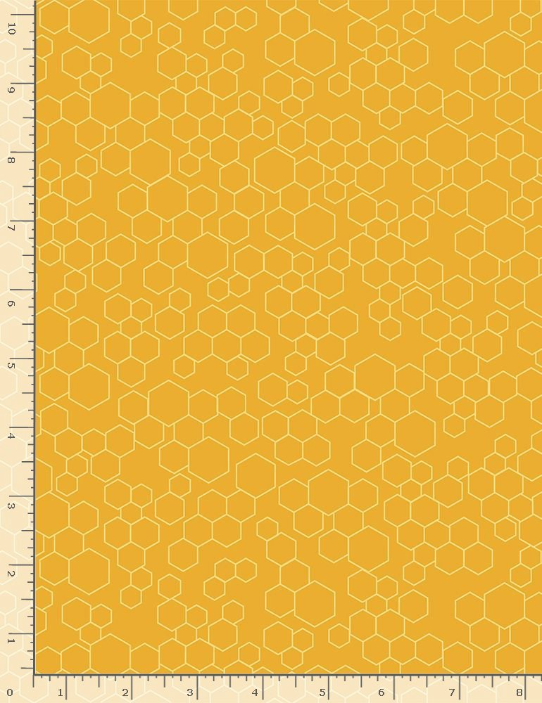 Bee Hive Grid Bee-C8126 Honey from Timeless Treasures