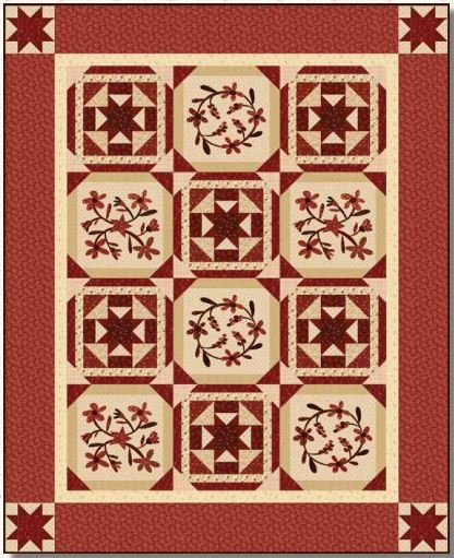 Berries & Blossoms Quilt Kit