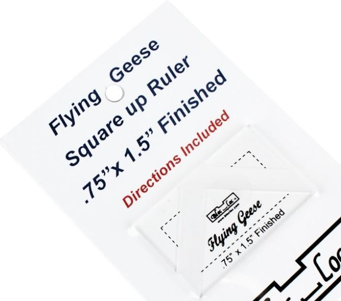 Bloc Loc Flying Geese Square Up Ruler .75 x 1.5