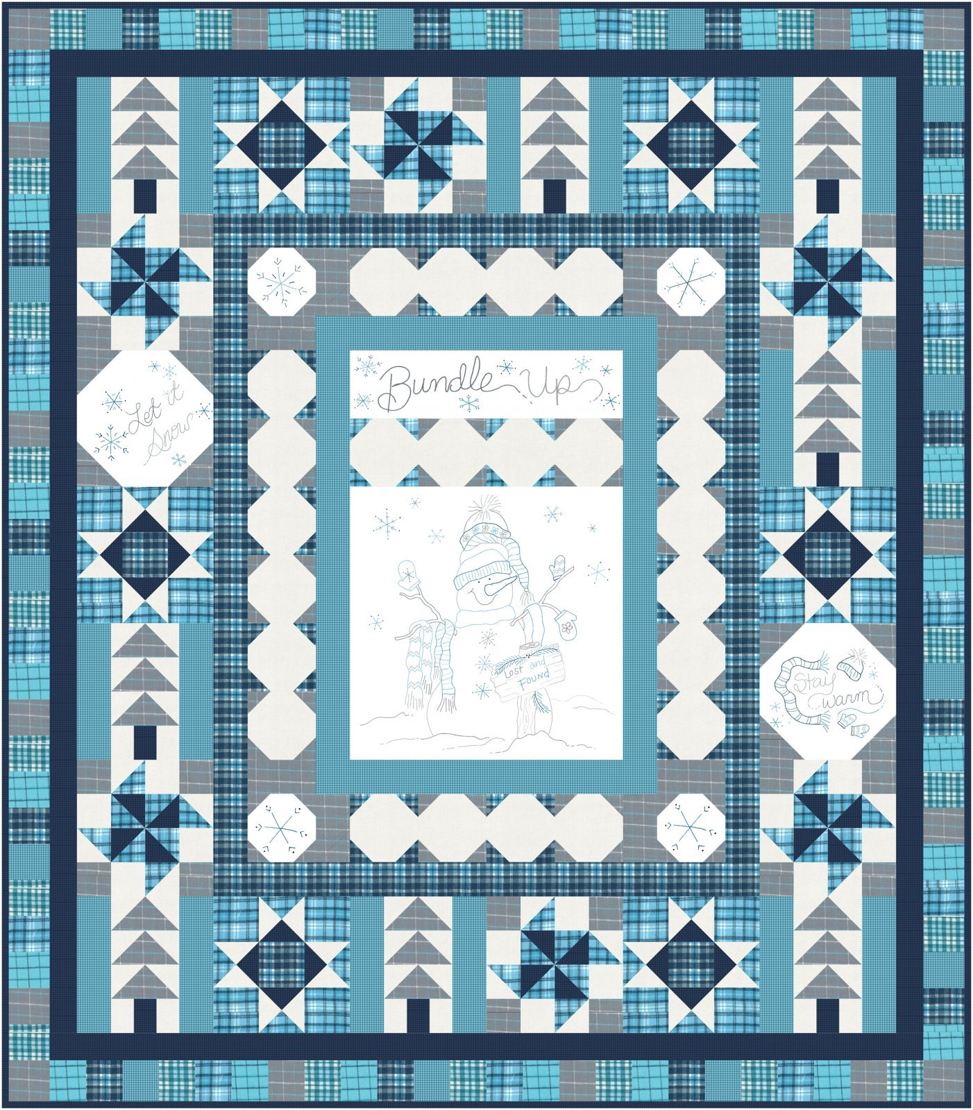 Bundle Up Complete Quilt Kit by Cindy Staub of Quilt Doodle Designs