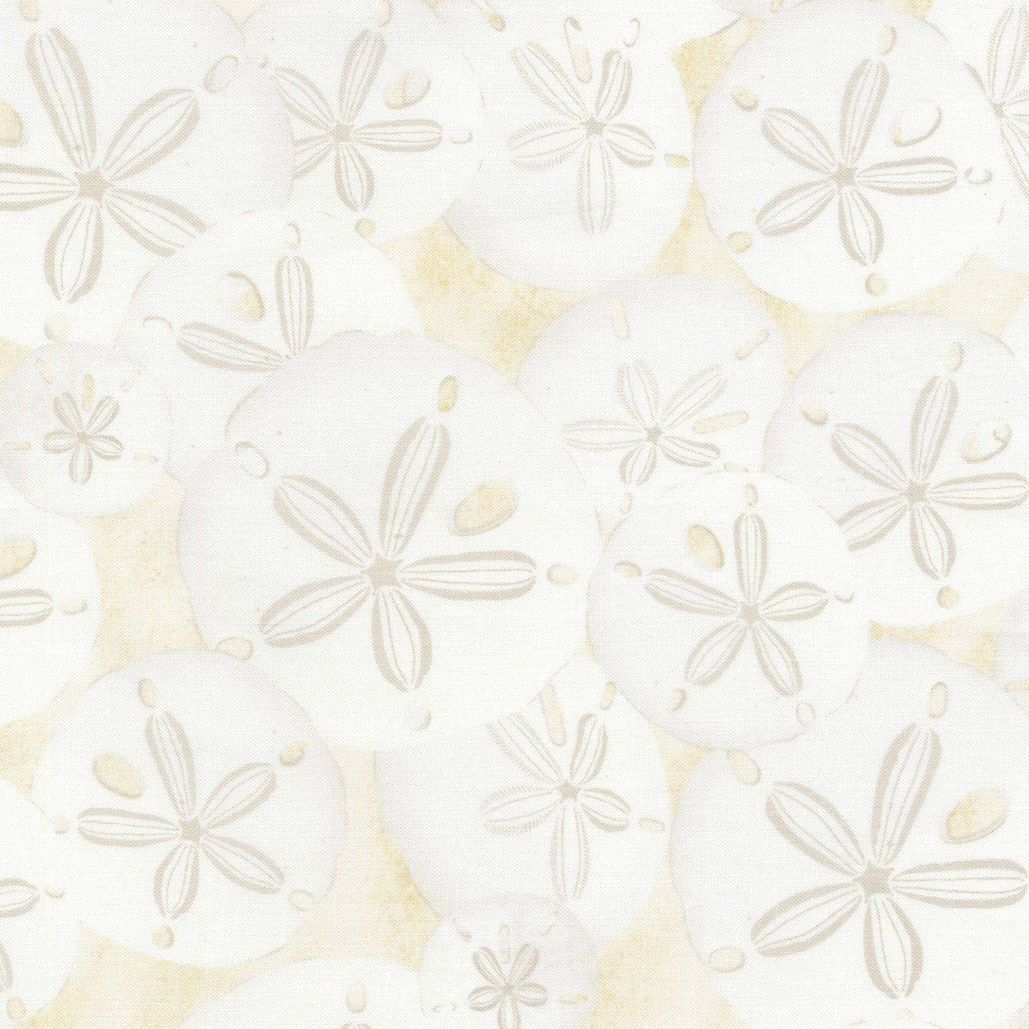 Sand Dollars C5352-CREAM by Timeless Treasures