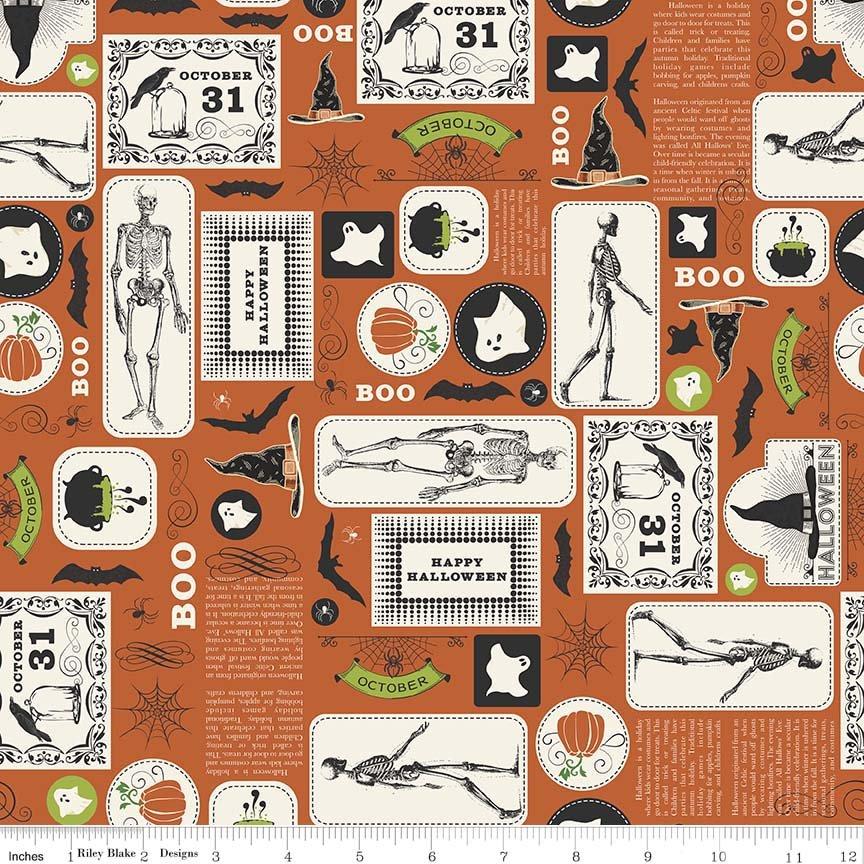 Eek Boo Shriek 6010-Orange by Carina Gardner