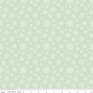 Comfort and Joy C6265-LT Green Snowflakes by My Mind's Eye