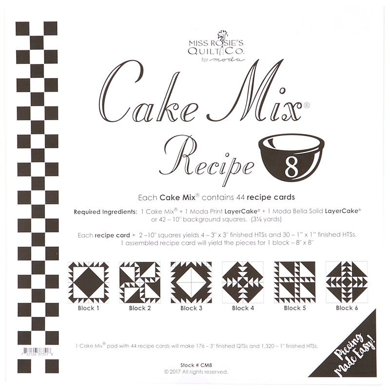 Cake Mix Recipe 8 from Miss Rosie's Quilt Co for Moda 44 ct