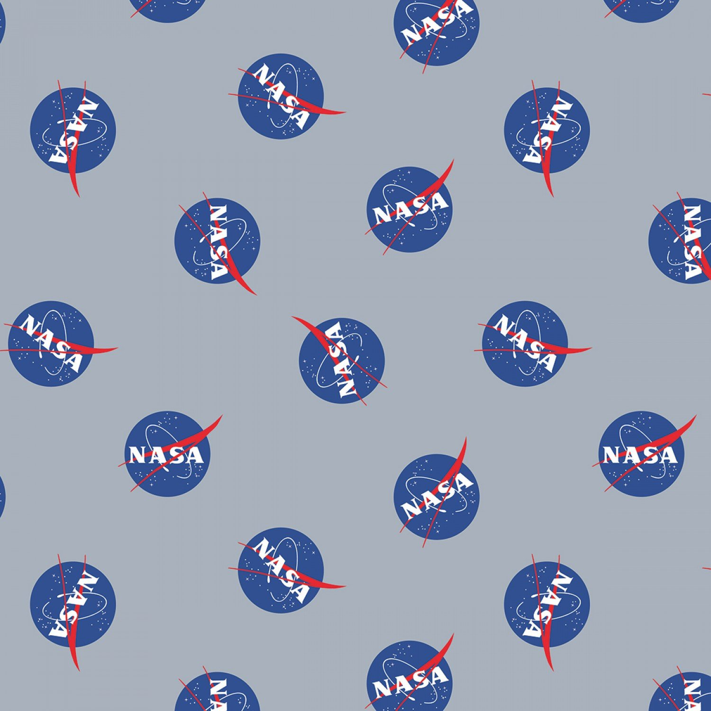 NASA C7800R-Gray Main Logo from Riley Blake Designs