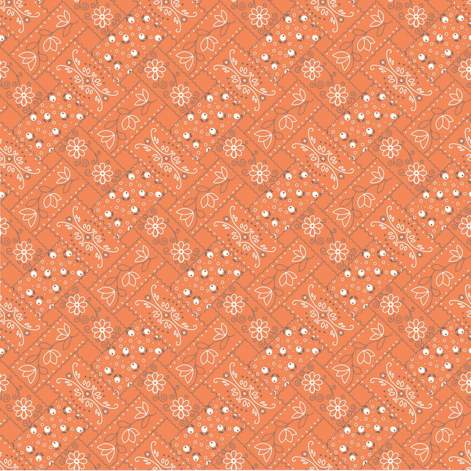 Farm Girl Vintage C7874 Orange by Lori Holt for Riley Blake Designs