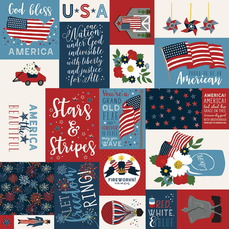 Celebrate America C8280-Multi by Echo Park for Riley Blake Fabrics