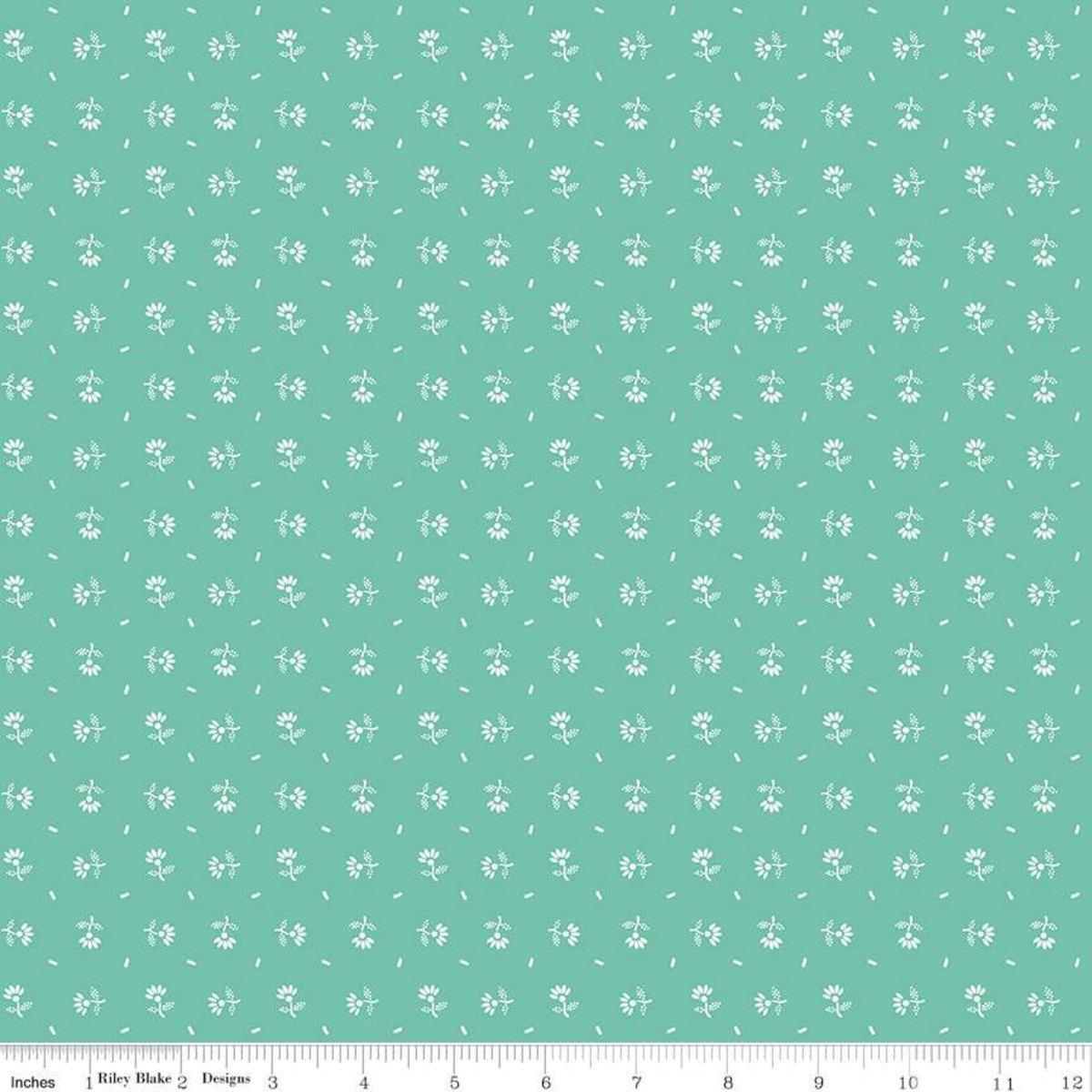 Prim C9694 Daisy Sea Glass by Lori Holt for Riley Blake Designs