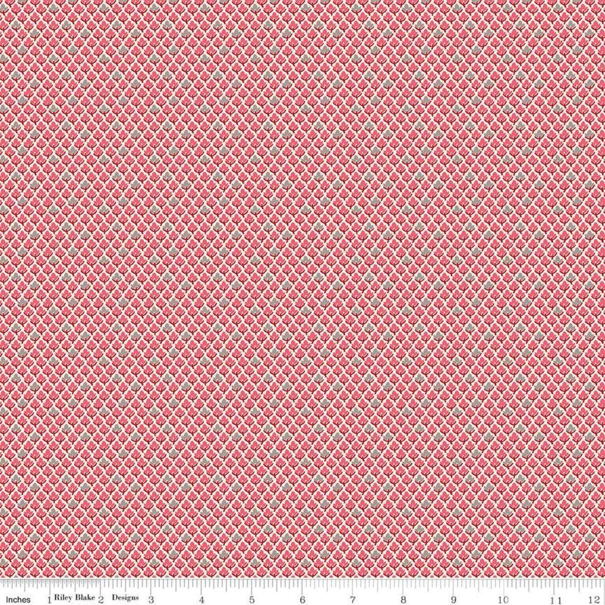 Prim C9700 Leaves Tea Rose by Lori Holt for Riley Blake Designs