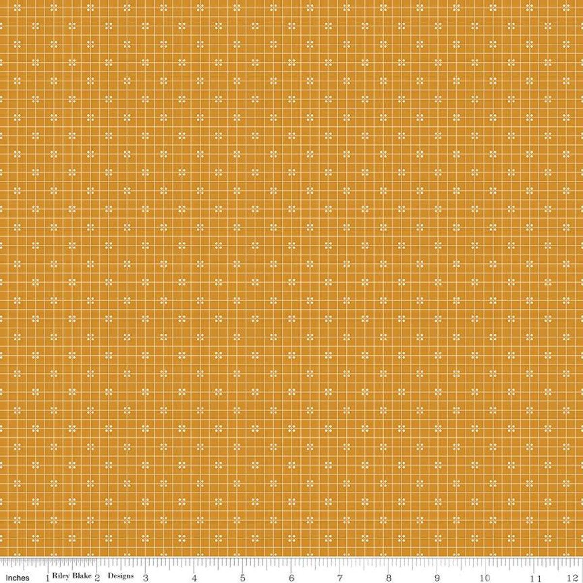 Prim C9701 Plaid Butterscotch by Lori Holt for Riley Blake Designs