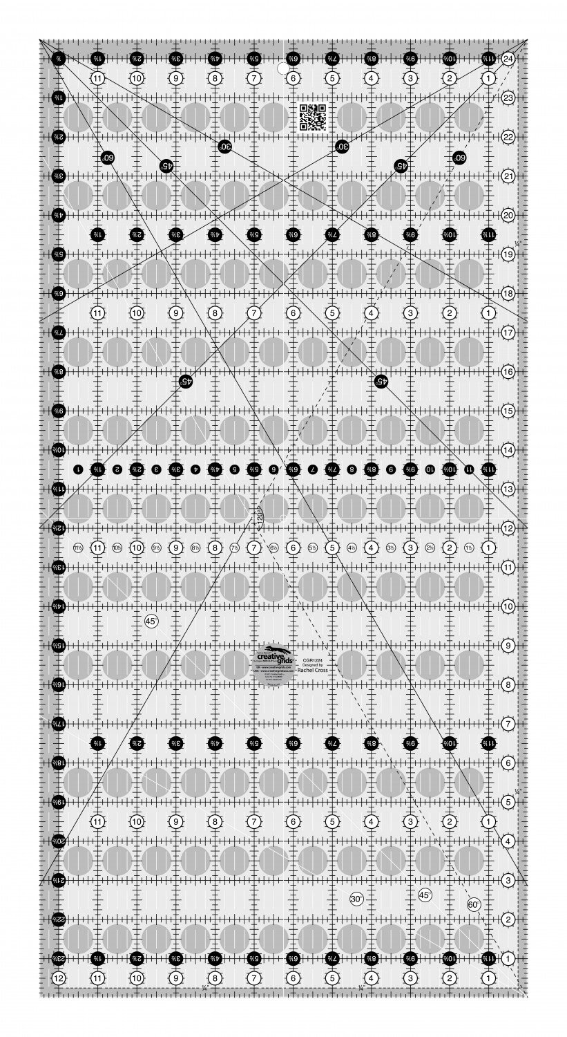 Creative Grids 12-1/2 x 24-1/2 Inch The Big Easy Ruler