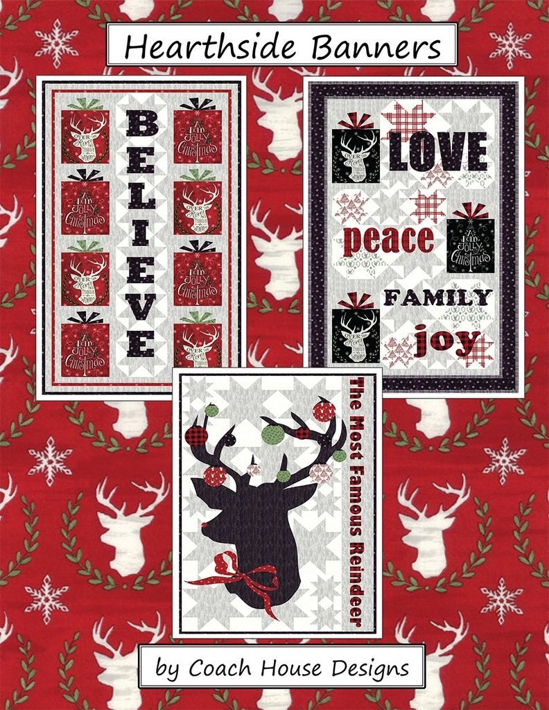 Hearthside Banners Pattern from Coach House Designs
