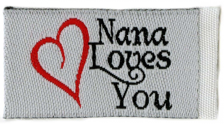 Tag It Labels Nana Loves You