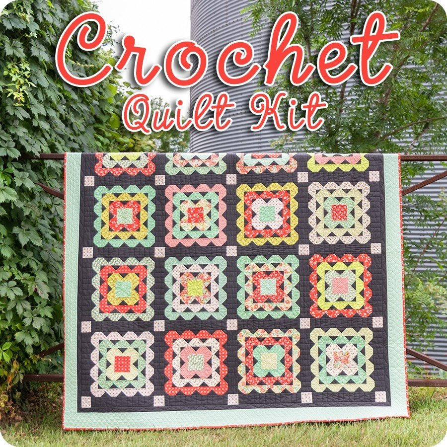 Scarlet Sage Crochet Quilt Kit by Fig Tree Quilts for Moda