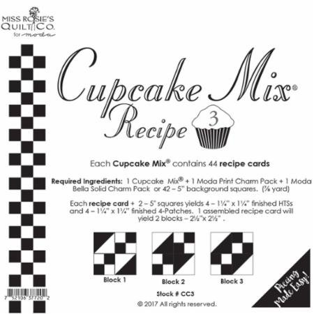 Cupcake Mix Recipe 3 from Miss Rosie's Quilt Co for Moda