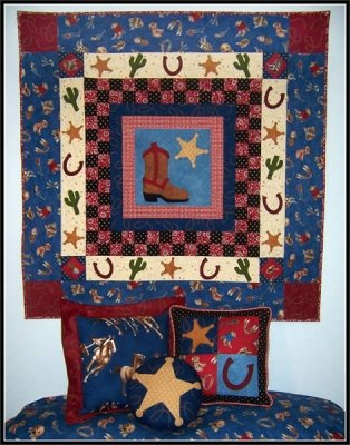 Rootin Tootin Cowboy quilt pattern by Spring Water Designs