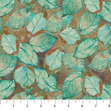Tree of Wisdom DP23315-34 Leaf Toss Rust Multi by Kerry Darlington for Northcott