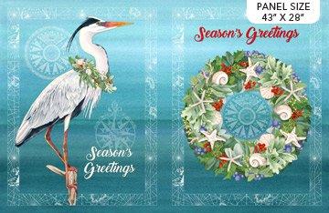 Coastal Christmas Panel Duet DP23424-44 by Lynnea Washburn for Northcott