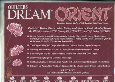 Batting - Queen Orient Quilter's Dream