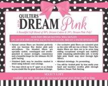 Batting - Quilter's Dream Pink 80/20 Queen
