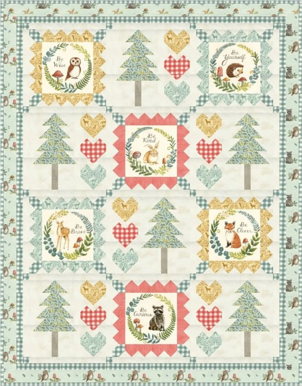 Pre-Order! Be You Little One Quilt with Effie's Woods fabrics by Deb Strain for Moda