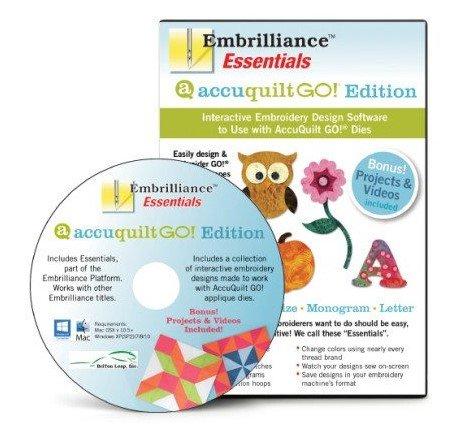 Embrilliance Essentials Accuquilt Go! Embroidery Designs Software