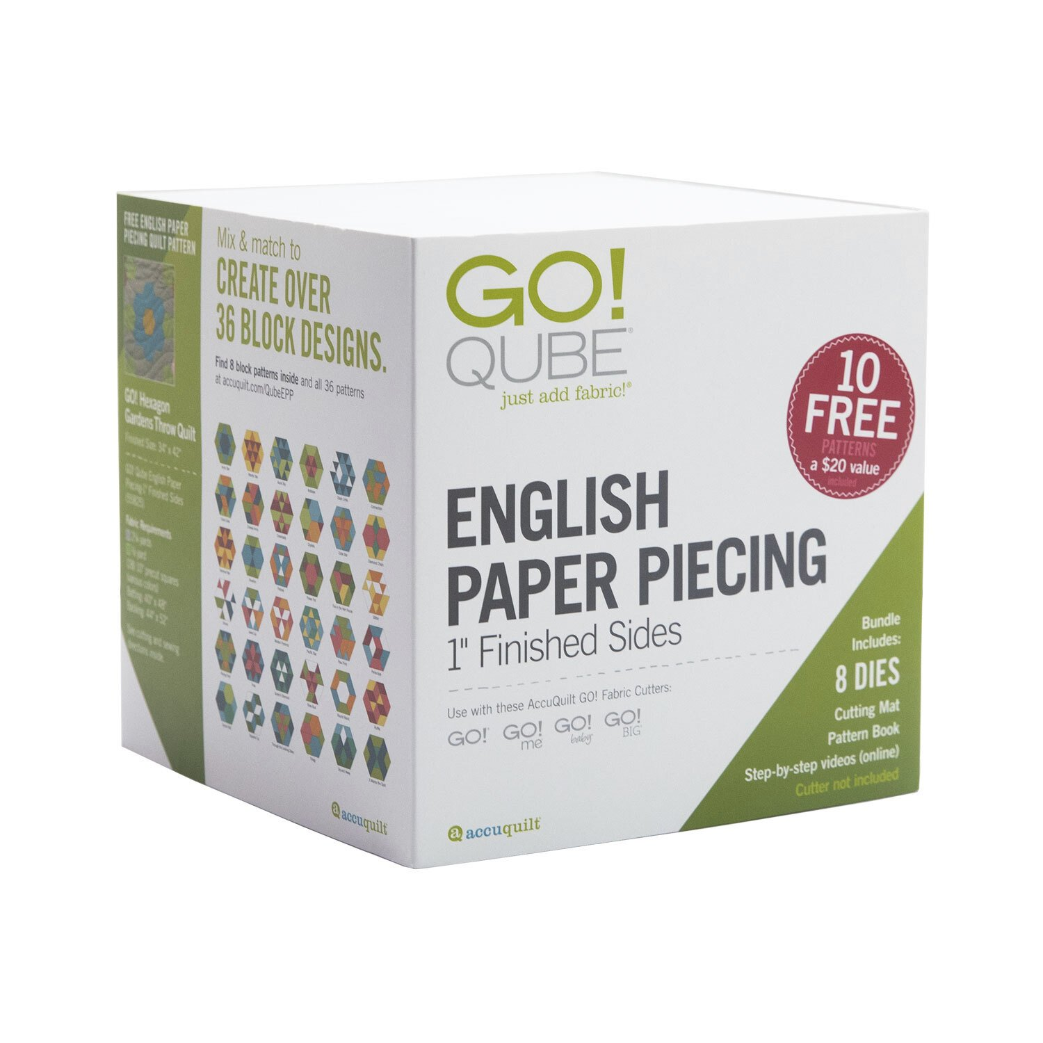 GO! Qube English Paper Piecing 1 Finished