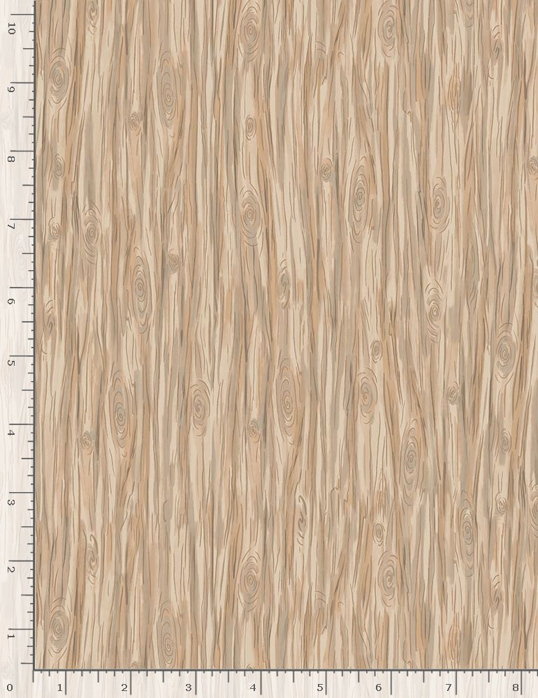 Snow Day C7559 Tan Woodgrain by Bunnies By The Bay
