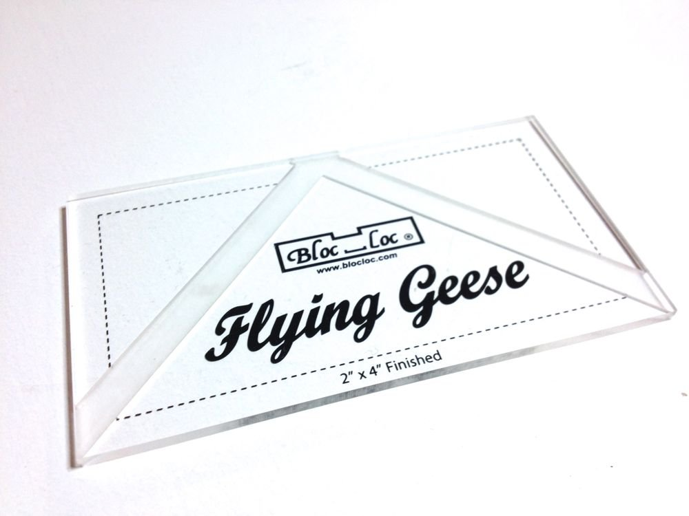 Bloc Loc Flying Geese Square Up Ruler 3 x 6 Finished